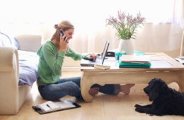 Telecommuting is a great way to spend more time with family or pets.