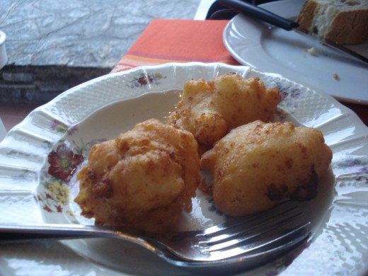 fried cheese, Native Corsican  Food Speciality