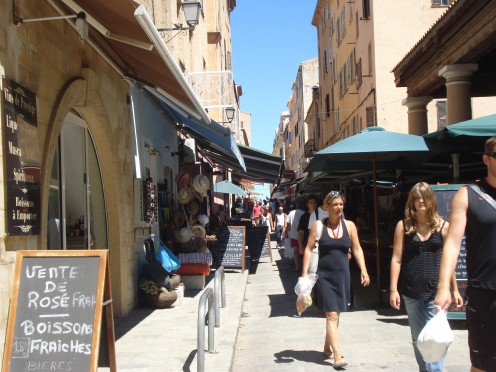 El Rousse  Streets, Bazar & Restaurants, Corsica, France