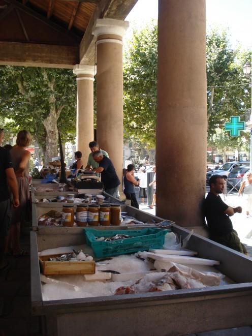 Market in El rousse, Corsica, France