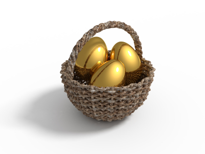 "You might not want to ""put all your eggs in one basket""."
