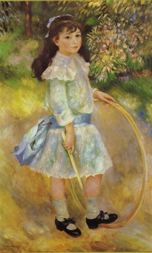 Pierre-Auguste Renoir, Girl with a hoop
