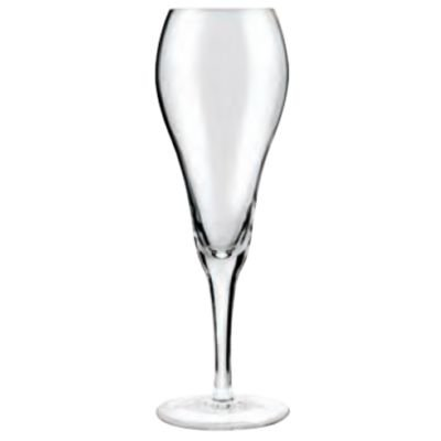 Tulip Glass for White Wine - note the typical belly shape combined with the narrow opening of the wine glass. This will allow you to get more aromas of the white wine, without losing carbonation.