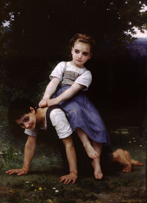 William Bouguereau, La Bourrique