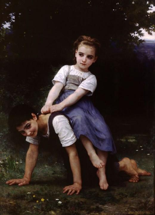 William Bouguereau, La Bourrique