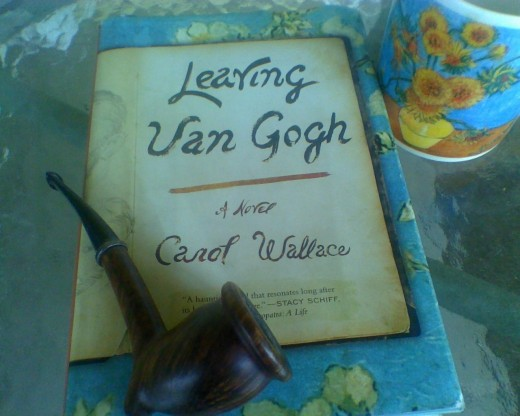Van Gogh pipe and mug with novel