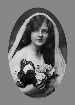 Photo of the Stunning Lady after Black and White Restoration