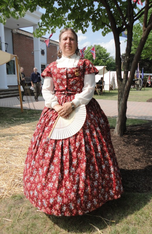 First Lady Mary Todd Lincoln as portrayed by Judee A. Synakowski of Coxsackie, N.Y.  She is also a member of the Civil War Heritage Foundation and the Association of Lincoln Presenters.
