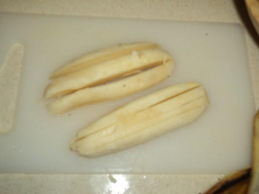 Slived some more for banana strips