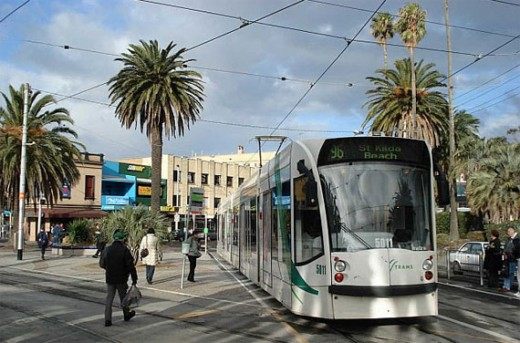 Tram 96 at St Kilda, Melbourne
