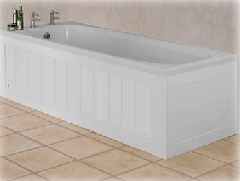 panneled bath