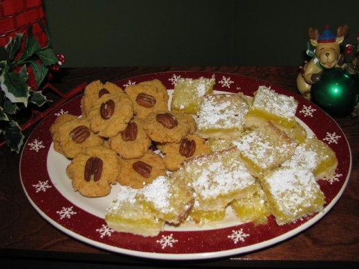 Lemon Squares with other holiday cookies.