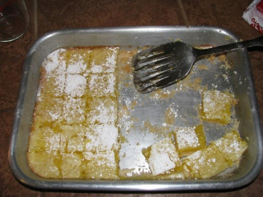A double batch of Lemon Squares.