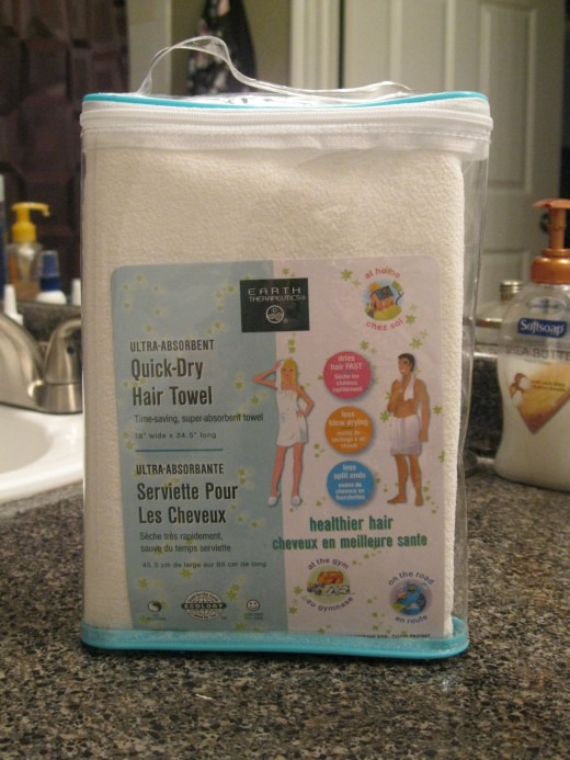 Earth Therapeutics' Quick-Dry Hair Towel