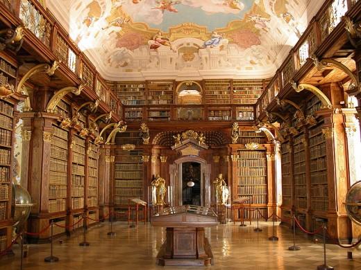 Melk Abbey library, Austria.