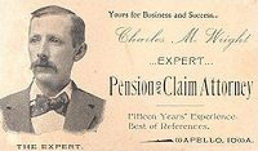 Check out this 1895 namecard of an attorney.