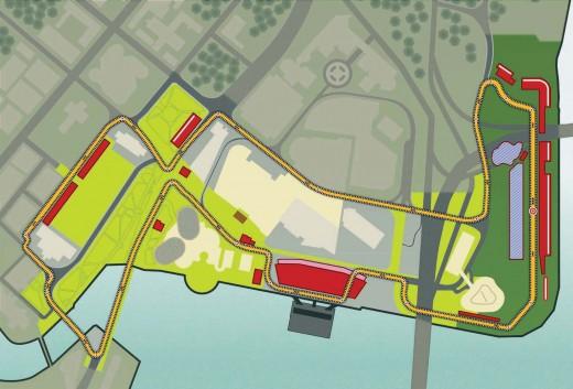 F1 Singapore Night Race Circuit Map