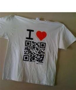 QR Code on a T-Shirt