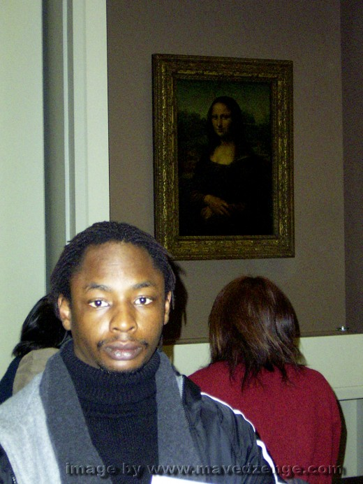 Minutes after seeing the Monalisa for the first time in the flesh.