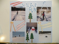 How to Make a Winter Themed Scrapbook Layout