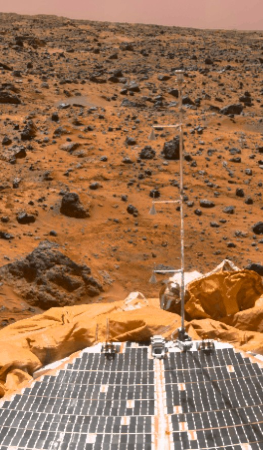 Mars as seen on Google Mars Images