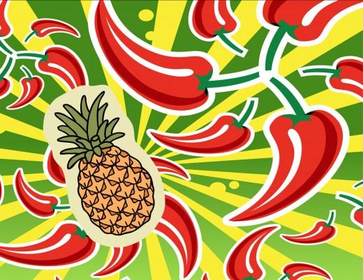 Crazy to mix tropical fruits and jalapenos?   NOT!!