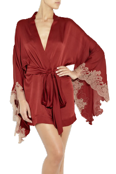 Carine Gilson short silk robe, from stylehive.com