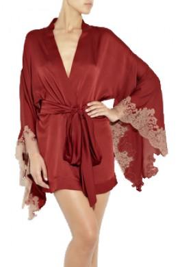 Carine Gilson short silk robe, from stylehive.com
