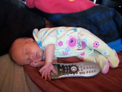 Beaner at a month old, after being born 6 weeks premature....barely bigger than the T.V. remote.
