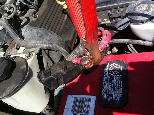 Inspecting Car Battery Cables