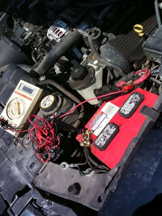 Checking for loose car battery cables