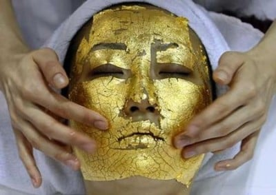 Rejuvenating gold-leaf facial from inventorspot.com
