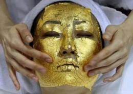 Rejuvenating gold-leaf facial from inventorspot.com