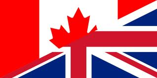 Canadian and UK friendship flag