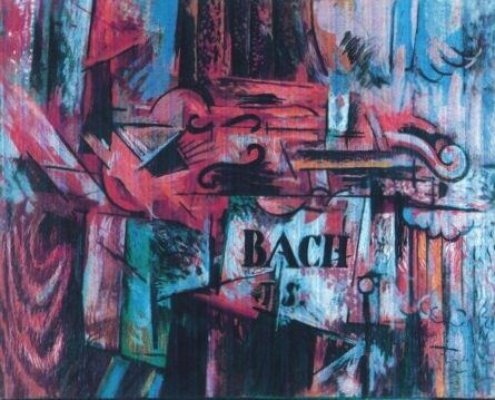 Still life with Violin - Myatt Forgery in the style of Braque