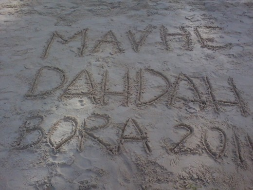our names in the sand