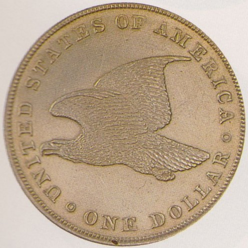 A very similar eagle is found on the back of the U.S. penny. (1856-1909).