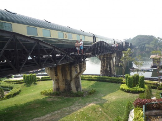 The Eastern & Oriental Express crossing the Bridge on River Kwai
