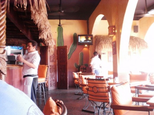 Cabo Wabo is filled with Mexican ambiance.