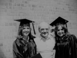 1987-My sister and I graduating from College