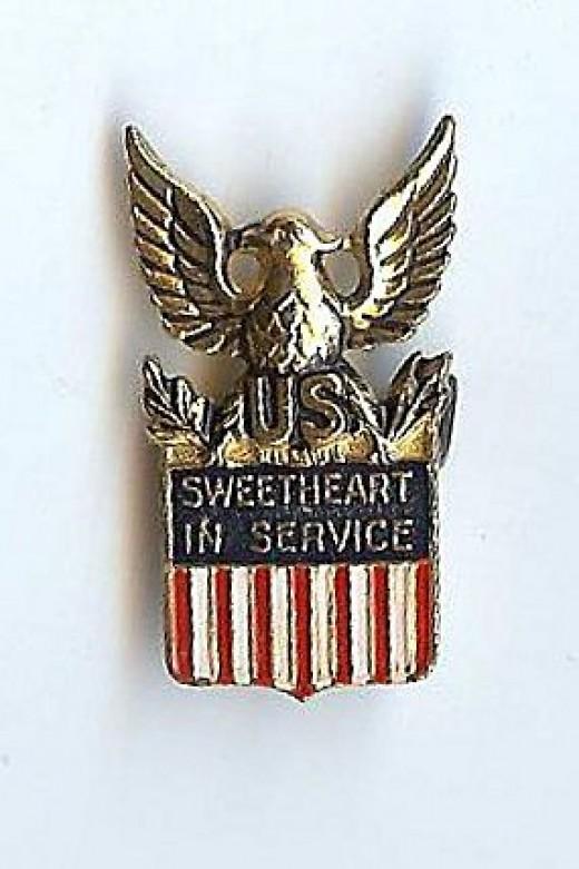 Coro Patriotic Eagle Sterling Sweetheart Pin World War II era  1940s