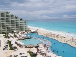 View from the room at Hard Rock Hotel Cancun Mexico