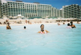 Crystal clear blue ocean at Hard Rock Hotel Cancun Mexico