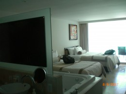 One of the the rooms with jacuzzi at Hard Rock Hotel Cancun Mexico