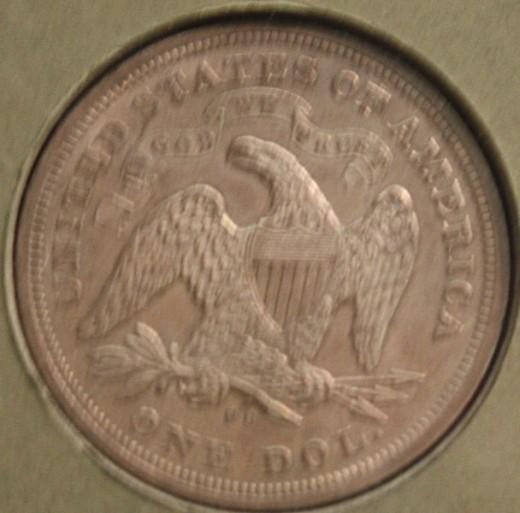 An eagle on the back.