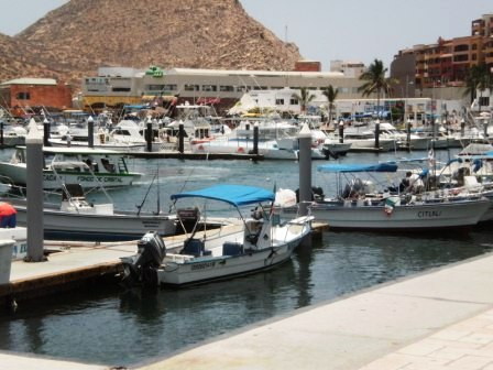 Once a quaint fishing village, Cabo is now a  major tourist spot and boater's dream. This picture was taken near Senor Frogs.