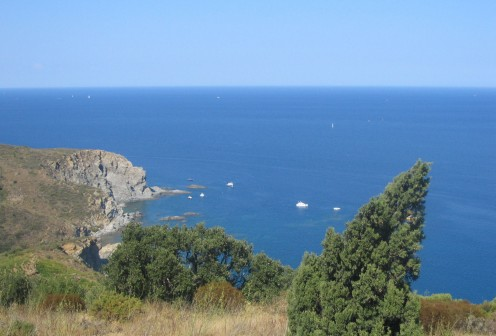 The Mediterranean, near the French-Spanish border - Copyright Tricia Mason