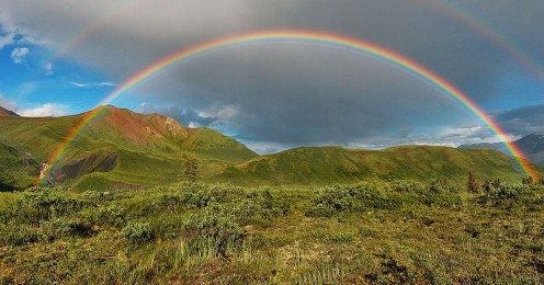 Photo adapted by Tricia Mason. See: http://en.wikipedia.org/wiki/File:Double-alaskan-rainbow.jpg