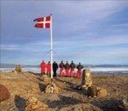 Danish Flag raising on Hans Island