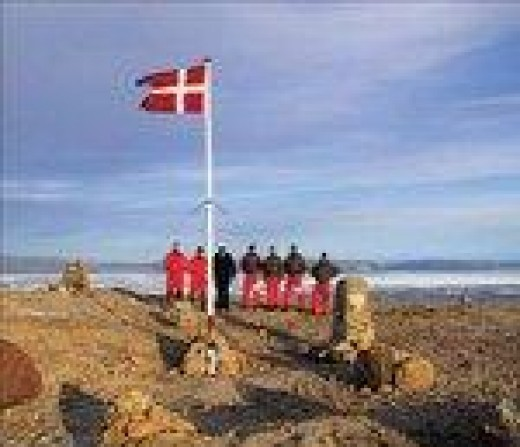 Danish Flag raising on Hans Island